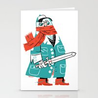 Creepy Scarf Guy Stationery Cards