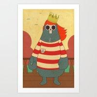 King of Pirates Art Print