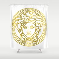 Shower Curtain featuring Versace by Goldflakes