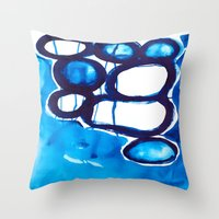 Paint 4 abstract modern art urban home decor dorm college fine art canvas painting print affordable Throw Pillow