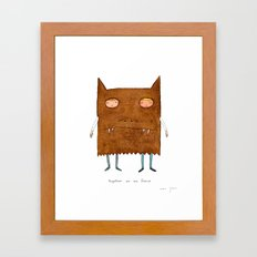 together we are fierce Framed Art Print