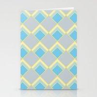 Diamond Art Deco; - Blue Stationery Cards