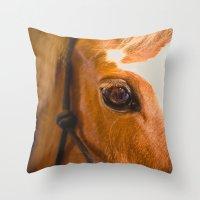 The Horse's Eye. Throw Pillow