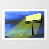 Billboard Tan  Art Print