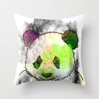Marshmallow Panda Syndro… Throw Pillow
