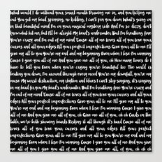 All of me song Canvas Print