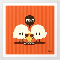 pop art Art Prints featuring Pop! by Steph Dillon