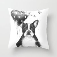 My Heart Goes Boom Throw Pillow