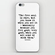 iPhone & iPod Skin featuring Charles Bukowski Typewri… by Fligo