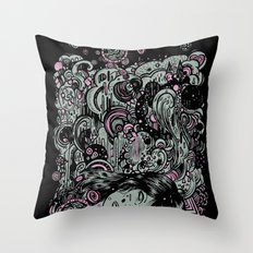 Irregular Sleeping Pattern Throw Pillow