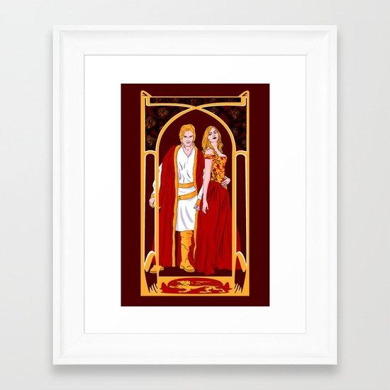 The Golden Twins Framed Art Print