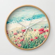 Sea of Poppies Wall Clock