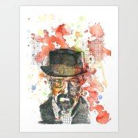 Walter White From Breaki… Art Print