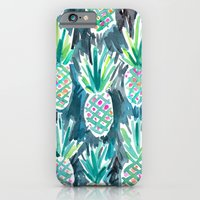 iPhone Cases featuring Wild Pineapples by Barbarian | Barbra Ignatiev