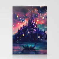 illustration Stationery Cards featuring The Lights by Alice X. Zhang