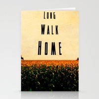 walk home Stationery Cards
