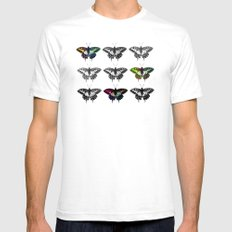 Butterflies 2 Mens Fitted Tee SMALL White