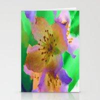 Purple Flowers - Waterco… Stationery Cards