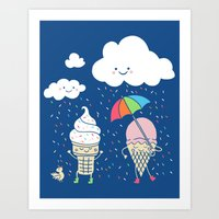 Art Print featuring Cloudy With A Chance of Sprinkles by Monica Gifford