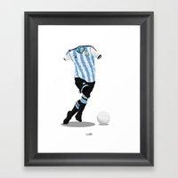 Argentina - World Cup 2014 Finalists  Framed Art Print