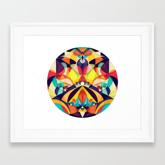 Poetry Geometry Framed Art Print