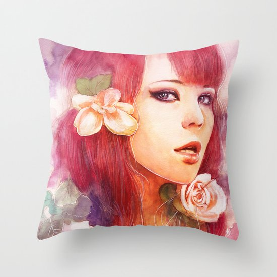 Kiss from a rose Throw Pillow
