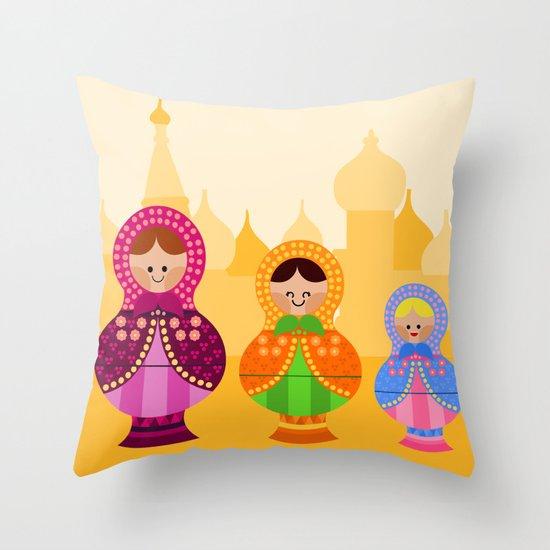 Matrioskas 2 (Russian dolls 2) Throw Pillow