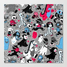 Alt Monster March (Gray) Canvas Print