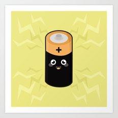 Kawaii Battery Art Print