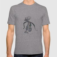 SHADOW PUPPET Mens Fitted Tee Athletic Grey SMALL