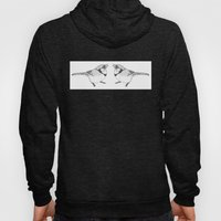 Black and White Blue Jay Hoody