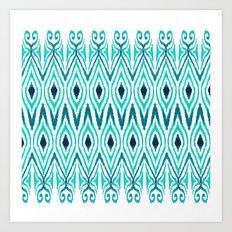 Ikat Jade Art Print