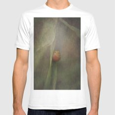 The shy snail SMALL Mens Fitted Tee White