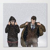 TIME BROS - Doctor Who Canvas Print