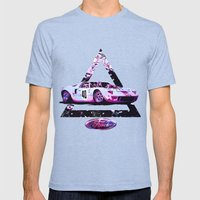 Ford Gt40// Le Mans Race… Mens Fitted Tee Tri-Blue SMALL
