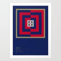 Cagliari Calcio Geometri… Art Print