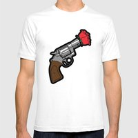 Pop Icon - Banksy Mens Fitted Tee White SMALL