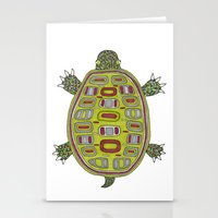 Tiled turtle Stationery Cards