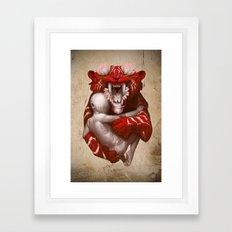 The Lotus Tiger Framed Art Print