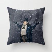 Oswald Cobblepot - The King Penguin Returns! Throw Pillow