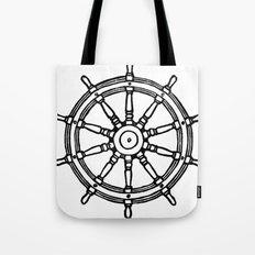 Ship's Helm - Captain's Wheel - Rudder Tote Bag