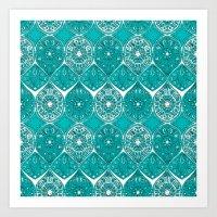 saffreya turquoise Art Print