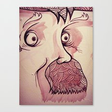 In Your Face Mr. Moustache Canvas Print