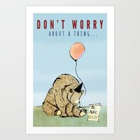 birthday Art Prints featuring Birthday by Emily Stalley
