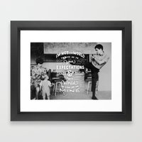 Bruce Says: Expectations Framed Art Print
