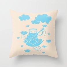 Lotus&Guitar Throw Pillow
