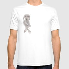 Weimaraner Therapy Mens Fitted Tee SMALL White