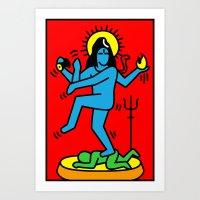 Shiva Keith Haring Tribute Art Print