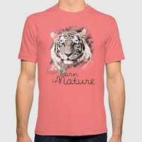 Tiger (BornInNature) Mens Fitted Tee Pomegranate SMALL
