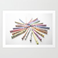 Crayon Love 2  Art Print